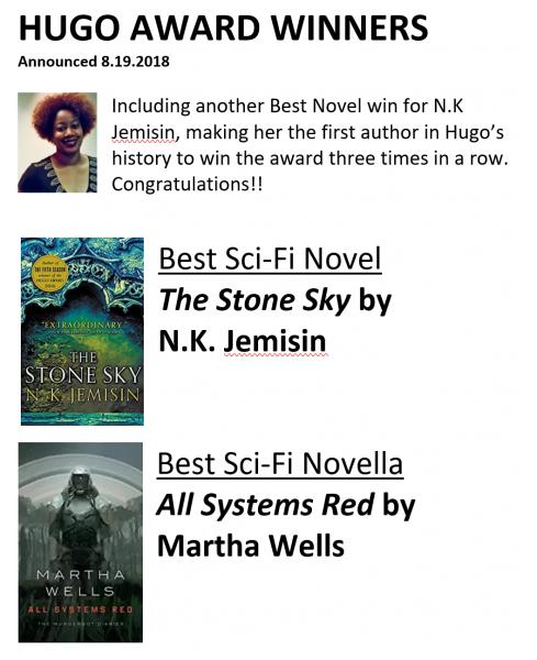 Award Winners   Unabridged Bookstore